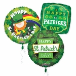 """18"""" St. Patrick's Day Balloon Assortment with Ribbon"""