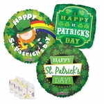 "18"" St. Patrick's Day Balloon Assortment with Weight"