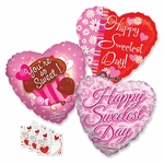 "18"" Sweetest Day Balloon Assortment with Weight"