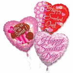 "18"" Sweetest Day Balloon Assortment with Ribbon"