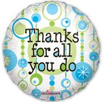 "18"" Thanks For All You Do Retro Balloon"