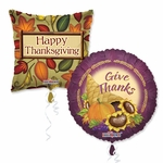"18"" Thanksgiving Balloon Assortment with Ribbon"