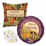"18"" Thanksgiving Balloons Assortment with Weight"