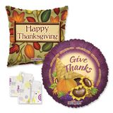 """18"""" Thanksgiving Balloons Assortment with Weight"""