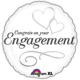 "17"" Two Hearts Engagement Helium Savers Balloon"