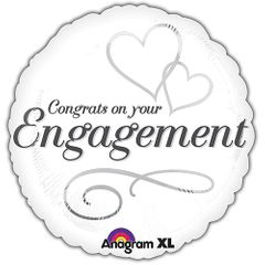 """17"""" Two Hearts Engagement Helium Savers Balloon"""