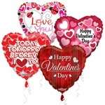 "18"" Valentine's & Love Balloon Assortment with Ribbon"