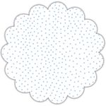 "22"" Light Blue Tiny Dots Scalloped Cellophane Sheets"