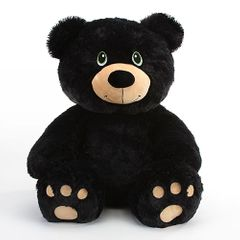 "20"" Zeke Black Plush Bear"