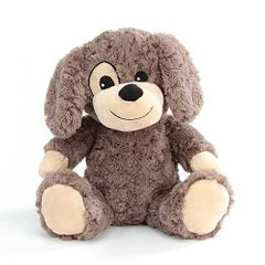 "12"" Eden Rose Brown Plush Dog- Forward Facing"
