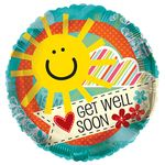 """18"""" Get Well Soon Clear View Balloon"""