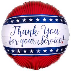"17"" Thank you for Your Service Helium Saver Balloon"