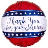 """17"""" Thank you for Your Service Helium Saver Balloon"""