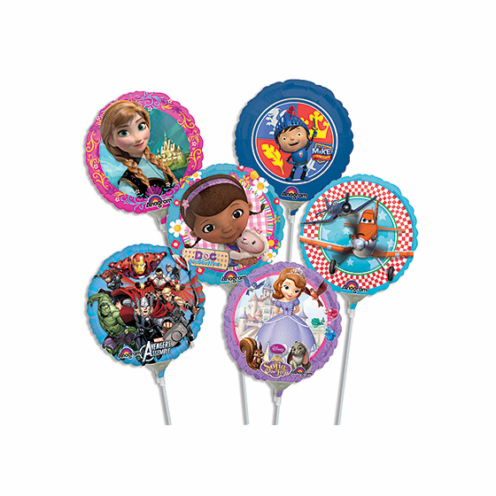"""9"""" Licensed Character Air-Filled Balloons"""