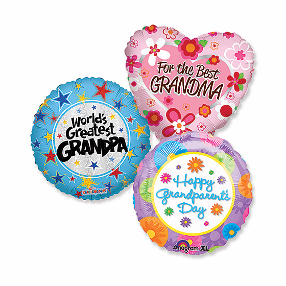 """Assorted Grandparent's Day 18"""" Balloons"""
