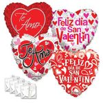 Assorted Spanish Love 18'' Balloons with Ribbon Weights