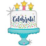 Celebrate! Cake Holographic Shape Balloon