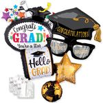 Graduation Shape Balloon Assortment  with Ribbon & Weight