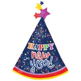 Happy New Year Party Hat Shape Balloon