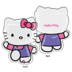 Hello Kitty Pink & Purple Shape Balloon
