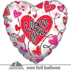 Jumbo I Love You Connected Hearts Clear View Balloon