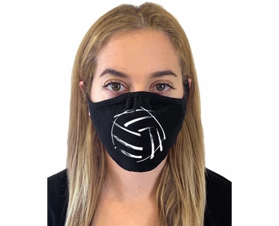 Abstract Volleyball Design 2-Ply & 3-Ply Face Masks in 6 Colors
