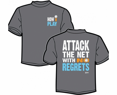 Attack The Net Design Heather Grey Volleyball T-Shirt