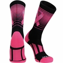 Pink Ribbon & Stripes Sublimated Performance Aware Crew Socks