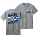 Back It Up Design Oxford Grey Volleyball T-Shirt