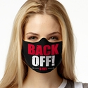 Back Off! Design 1-Ply Jersey Face Mask in 10 Color Options