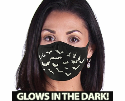 Flying Bats Glow In The Dark 2-Ply Face Mask - 3 Color Options