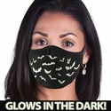 Flying Bats Glow In The Dark 2-Ply Face Mask
