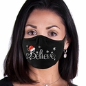 Believe Santa Design 2-Ply Face Mask in 3 Color Options
