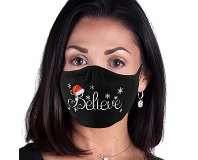 Believe Santa Design 2-Ply Face Masks in Choice of 3 Colors