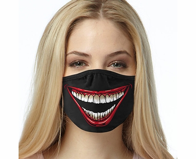 Big Joker Smile Design 2-Ply Face Mask in 3 Color Options