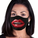 Big Red Lips Design 2-Ply Face Mask in 3 Color Options