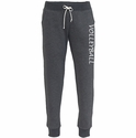 Black Heather Jogger Pants w/ Pockets - Choice of 16 Sports down Leg
