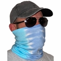 Blue Lagoon Tie Dye Neck Gaiter / Face Covering