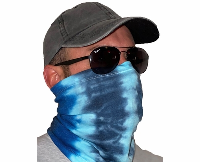 Blue Ocean Tie Dye Neck Gaiter / Face Covering - Choice of 10+ Sports
