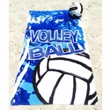 Blue Volleyball Beach Towel / Blanket