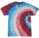 Red White Blue Swoosh Tie Dye Shirt - Choice of 12 Volleyball Prints