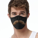 Brown Mustache Design 2-Ply Face Masks in Choice of 3 Colors