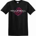 Bump Set Spike Score Volleyball Design Black T-Shirt