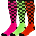 Checker Board Knee High Socks - 7 Color Options