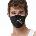 Cigar & Big Teeth Design 2-Ply Face Mask in 3 Color Options