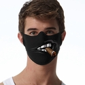 Cigar Design 1-Ply Jersey Face Mask in 10 Color Options