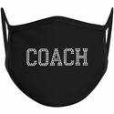 Coach Block Font Bling Rhinestone Face Mask - 6 Color Options