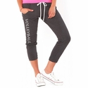 Volleyball Printed Grey Heather Soffe Pocket Capris