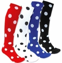 Dots Knee High Socks - 20 Color Options