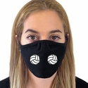 Double Volleyball Design 2-Ply & 3-Ply Face Masks in 6 Color Options